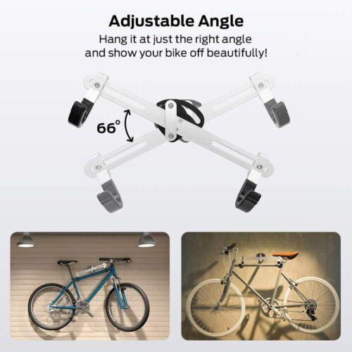 Sportneer Bike Wall Mount Horizontal Metal Adjustable Bicycle Rack Holder Hook
