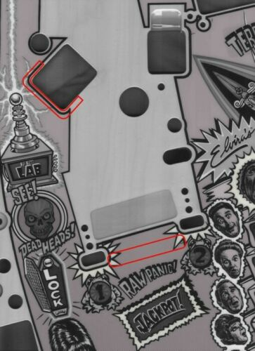2 sheets Scared Stiff Pinball Machine complete Mylar Set