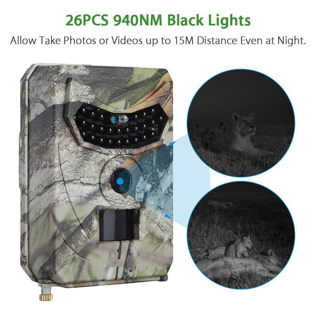 12MP HD 1080P Hunting Camera Photo Trap IR Night Vision Video Trail Wildlife Cam