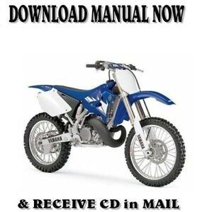2001 Yamaha Yz250 P Lc Factory Repair Service Shop Manual On Cd Ebay