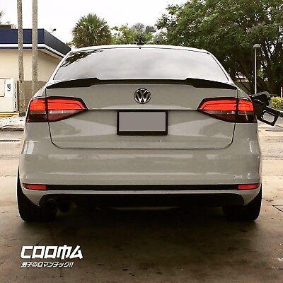 Unpainted For Jetta MK6 Volkswagen VW V Style Rear Trunk Spoiler Wing Sedan