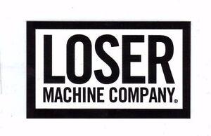 Loser-Machine-Large-Gloss-Print-Vinyl-Logo-Stickers-Black-White-NEW