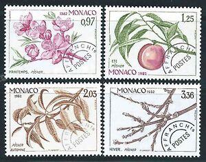 Monaco-1982-Timbres-preobliteres-N-74-a-77-Neufs-MNH