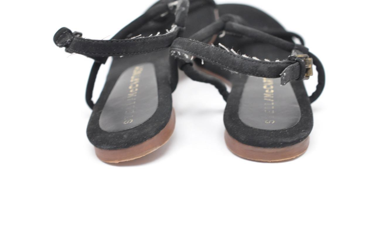 STELLA MCCARTNEY nero nero nero 100% Suede FLAT Sandals w Coiled Detail  35  PRETTY 3513a9