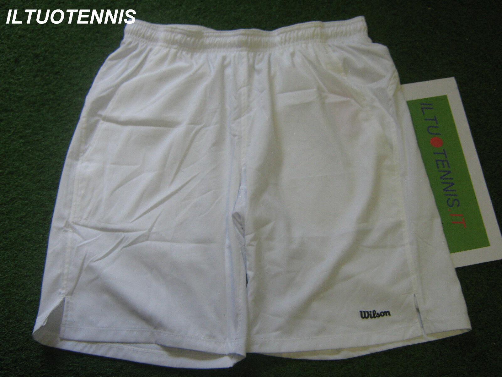 Short tennis  WILSON mod. BASIC PERFORMANCE col. bianco tg. M