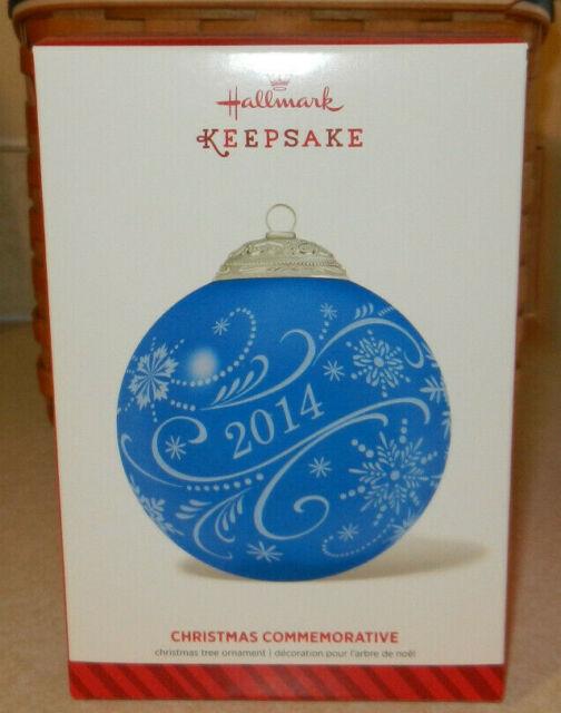 Hallmark 2014 Christmas Commemorative Blue Dated Glass ...