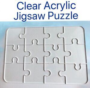 Acrylique-Clair-Jigsaw-Puzzle-impossible-12PC-facile-4x6