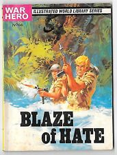 "War Hero Library 66 (1963) high grade ""Blaze of Hate"""