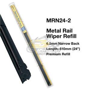 TRIDON-WIPER-METAL-RAIL-REFILL-PAIR-FOR-Honda-Prelude-12-91-12-96-24inch