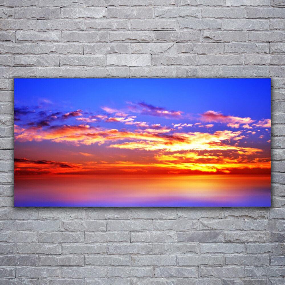 Photo sur toile Tableau Image Impression 120x60 Paysage Ciel Nuages Mer