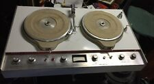 "Vintage Collins 808A-1 dual 3-speed pro audio 12""  DJ broadcast turntables 1960s"