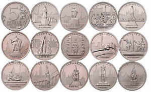 Set 14 coins Capitals liberated by the Soviet Troops 5 rubles 2016 Russia