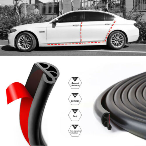 "196/"" Weatherstrip Moulding Trims Car Door Trunk Edge Protector Rubber Seal 5M"
