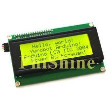 Yellow Green Serial IIC/I2C/TWI 2004 20X4 Character LCD Module For Arduino