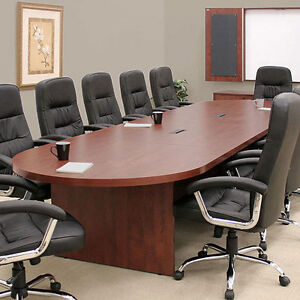 Attrayant Image Is Loading 12ft 26FT LARGE CONFERENCE TABLE Cherry Mahogany Or