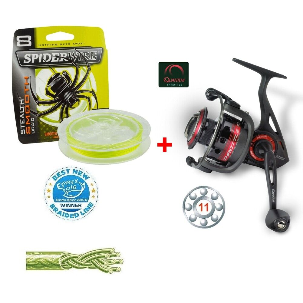 Quantum THROTTLE TH50 + 300m Spiderwire® Stealth Smooth 8 0 17mm 17kg