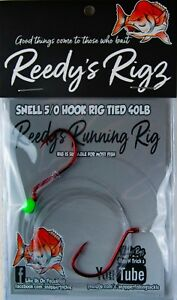 5-Running-Rigs-Snelled-Twin-Uni-Double-Knot-Hooks-Size-5-0-Awesome-Mulloway-Rig