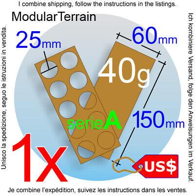 1x MOVEMENT TRAY MDF 3X3 B 25mm ROUND BASE WAR HAMMER WARGAME WARGAMING USD