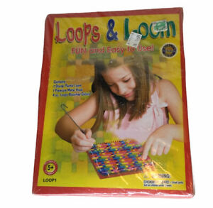 Vintage Pepperell Weaving Loops and Loom Kit Fun And Easy 5+ Great For Beginners