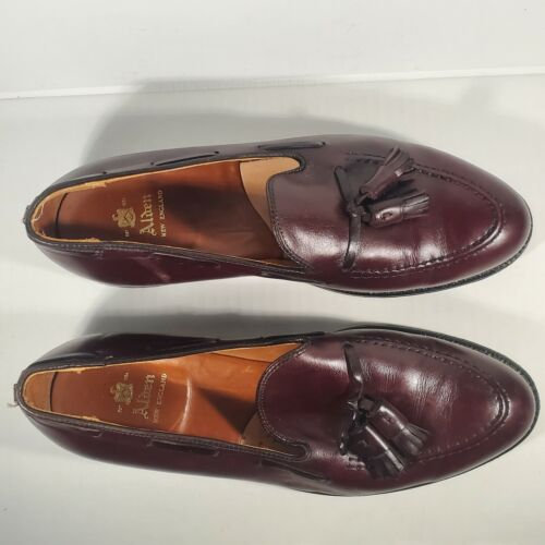 ALDEN NEW ENGLAND 663 SHOES CORDOVAN BURGUNDY CALF