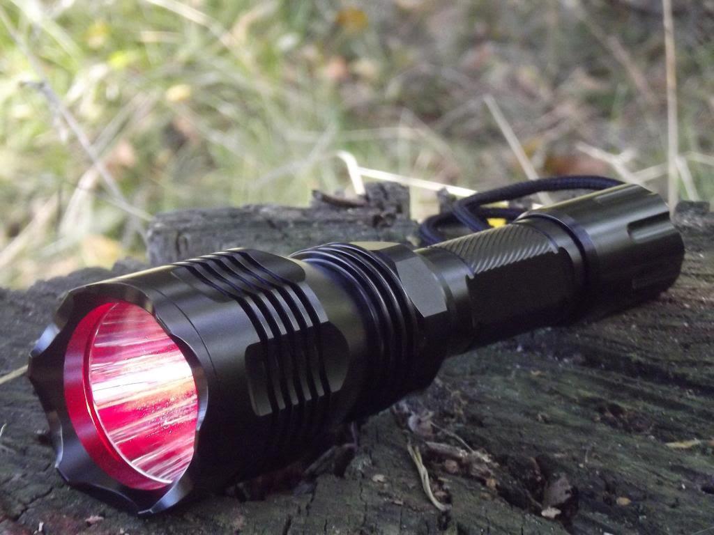 270 lúmenes caza LED linterna con luz roja, caza lámpara, luz roja,  nuevo