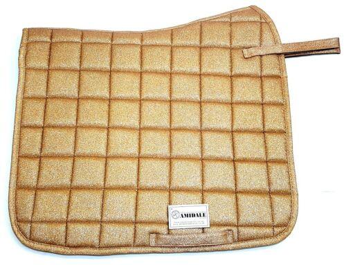 Amidale Pro Sport Luxury Glittery Synthetic Leather Dressage Saddle Pads Numnah