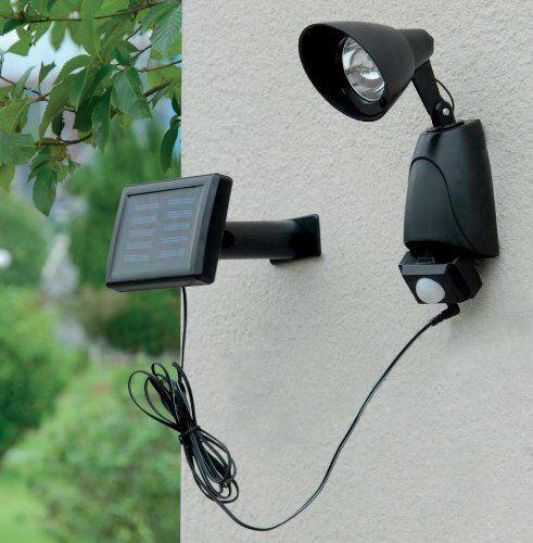 Energía Solar 9 LED Sensor de movimiento PIR Seguridad Jardín Luz al aire libre porche ella