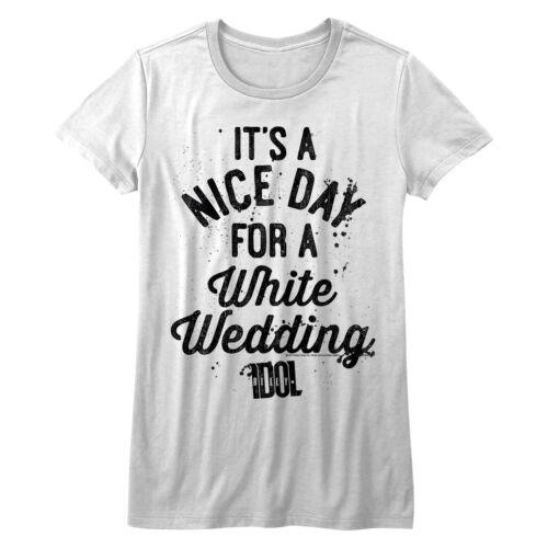 Billy Idol Nice Day For A White Wedding Women/'s T Shirt Punk Rock Concert Merch
