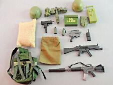 GI JOE 21ST CENTURY GEAR RIFLE WEAPON AMMO BOX BACKPACK GUN COMBAT HELMET LOT 23