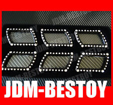 LUXURY BLING Swarovski Crystal Fender side Vent Hood Grill Badge Decal FOR BMW