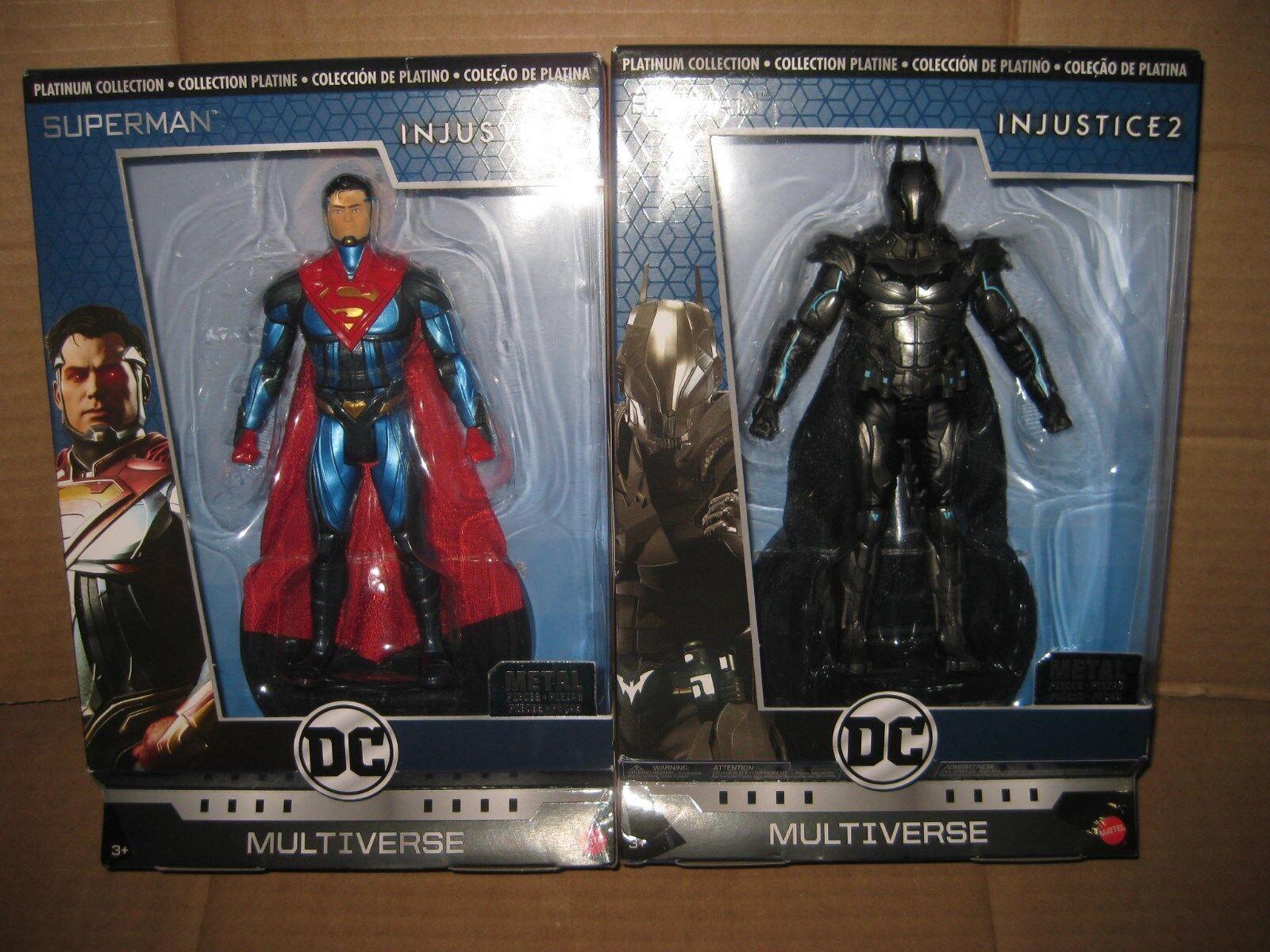 DC MULTIVERSE  INJUSTICE DIECAST SUPERMAN & BATMAN