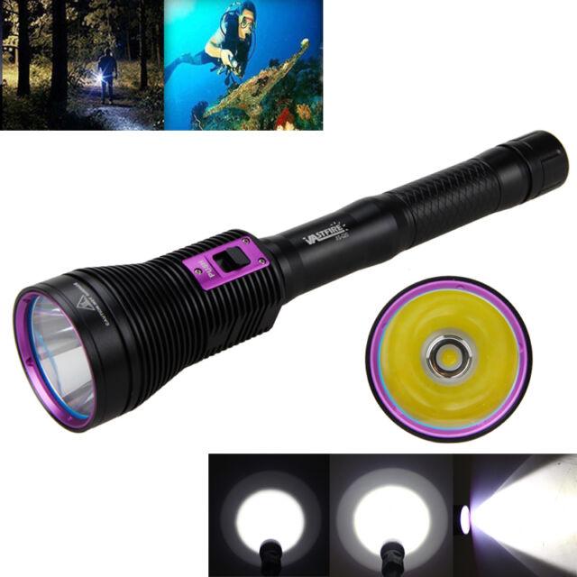 Diving 100m 8000LM CREE XHP70 LED Scuba Waterproof Flashlight 18650/26650 Torch