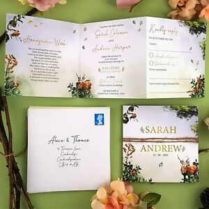 Woodland-Wedding-Invitations-With-Envelopes-Or-Evening-Reception-Invitations
