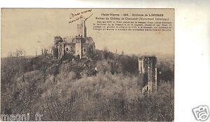 87 - cpa - Las ruinas de la castillo de Chalusset