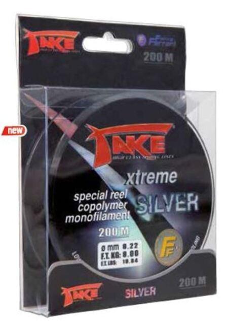 Lineaeffe Take Xtreme Silver monofile Angelschnur verschiedene Längen u. Stärken