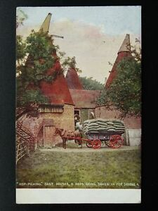 Kent-Crowborough-Hop-Picking-Theme-OAST-HOUSES-c1908-Postcard-by-Young-amp-Cooper
