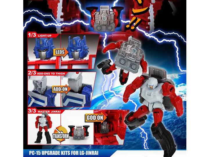 Perfect Effect PC-15 Ginrai Optimus  Upgrade Set Jinrai Transformers Xmas LG 35