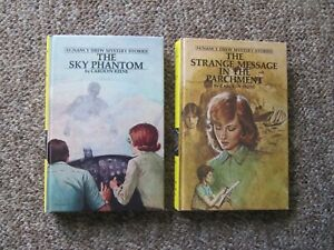 Nancy-Drew-53-and-54-Matte-Sky-Phantom-amp-Strange-Message-in-the-Parchment