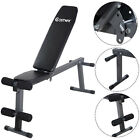 Costway Adjustable Folding Sit Up AB Incline Abs Bench Flat Fly Weight Press Gym