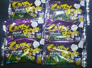 Lot of 10 Crazy Bones SPORTS Go Go/'s 10 NEW sealed foil packs
