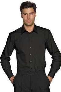 Camicia-Nera-Uomo-Elasticizzata-Sciancrata-Slim-Aderente-Cotone-Stretch-61601