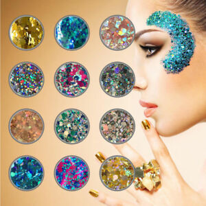 10g-Mixed-Holographic-Flake-Chunky-Festival-Glitter-Nail-Face-Tattoo-Body-Dance