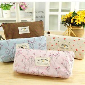 Vintage-Flower-Floral-Pencil-Pen-Case-Cosmetic-Makeup-Bag-Storage-Pouch-Purse