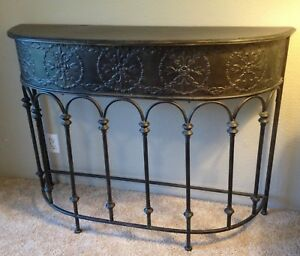 metal hall tables. Image Is Loading Decorative-Dark-Metal-Hall-Table Metal Hall Tables