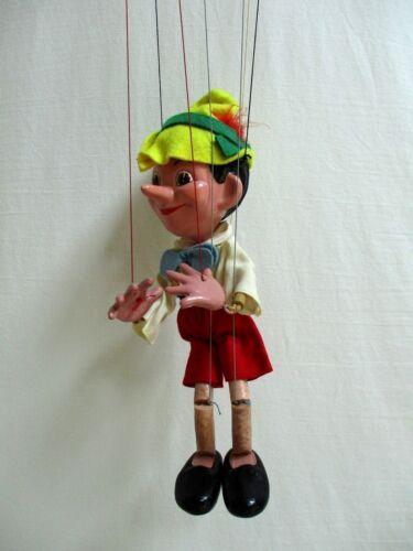 Vintage Pelham Marlborough Wilts Pinocchio Puppet With Box Mid 60's England Marionette Puppen & Zubehör