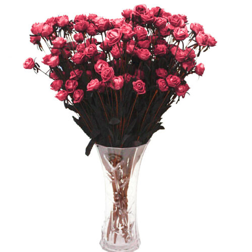 Artificial Bouquet 15Head Rose Silk Flowers Fake Leaf Wedding Party Decor Home