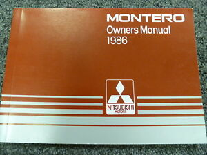 1986 mitsubishi montero suv owner owner s manual user guide sport rh ebay com Mitsubishi Montero Mitsubishi Montero