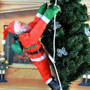 Details About Us Climbing Santa With Rope Ladder Outdoor Christmas Yard Decoration 15 7 Inch