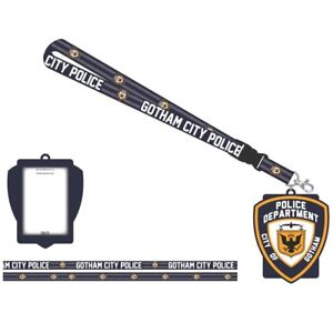 Batman-Gotham-City-Police-Department-Dc-Comics-ID-Badge-Holder-Keychain-Lanyard