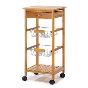 Details about Kitchen Islands And Carts, Wooden Trolley Table Osaka Kitchen  Cart On Wheels